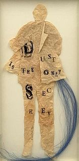 """Leslie Dill, Monotype and Collage, """"Listen"""""""