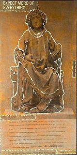 """Linda Schwarz Photolitho with Hand Painting, """"Saints"""""""