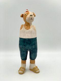 "Suzanne Long Ceramic Sculpture, ""Bull Dyke"""
