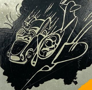 "Jef Scharf Oil, ""Faster Than Light, Thinner Than Air"""
