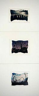 Bruce Cline, Three Polaroid Transfer Prints