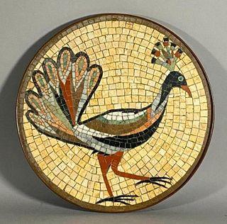 Mid Century Mosaic Panel, Peacock