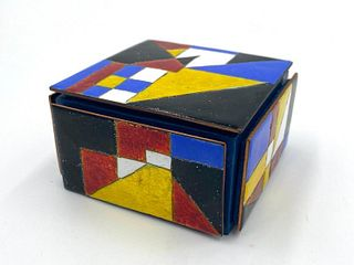 Kenneth F.  Bates Cloisonne Enamel Box, 1984