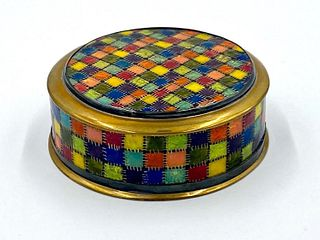Kenneth F.  Bates Enamel Box with Cover, 1977