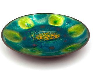 Kalman Kubinyi  Enamel on Copper Dish