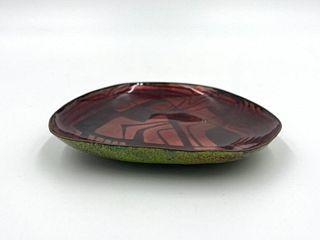 John Puskas Enamel Dish, Abstract Design