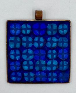 Eva Hidström Enamel on Copper Pendant