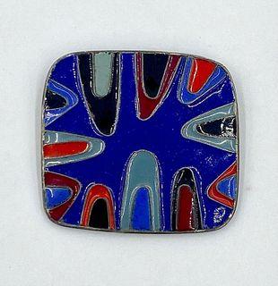 M. Lewis Modernist Enamel Pin