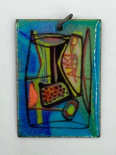 Miriam Peck Smith Enamel on Copper Pendant