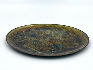 Enamel on Copper Dish, Mid-Century