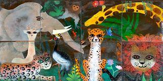 Enamel on Copper Whimsical Mural