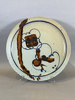 Robert Sperry Large Glazed Stoneware Charger