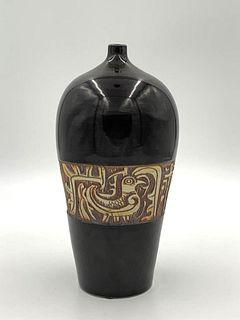Glazed Studio Porcelain Vase, c.1950's