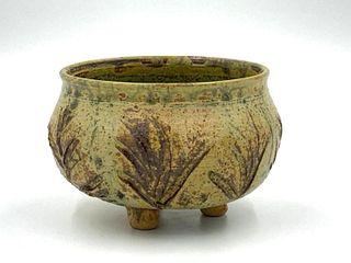 Signed Glazed Studio Pottery Bowl