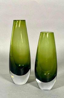Two Modernist Glass Vases