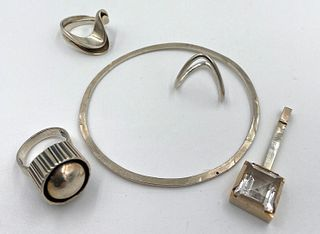 Signed Danish and Scandinavian Modernist Design Jewelry