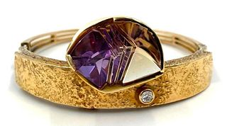 Bernd Munsteiner 14K Gold and Fancy Cut Tourmaline