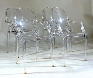 Four Louis Ghost Chairs, Philippe Starck for Kartell