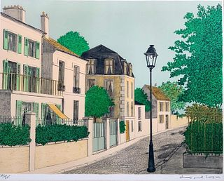 Denis Paul Noyer Lithograph, Village Street