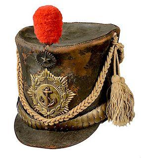 Republic of Texas Marine Officer's Shako
