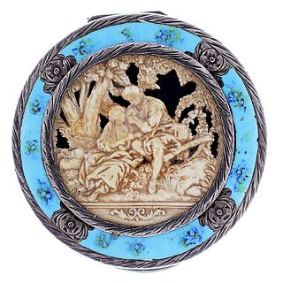 .800 Silver, Enamel and Composite Compact