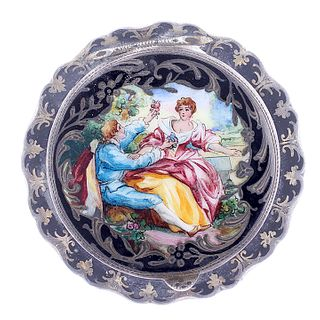 Austrian .915 Silver and Enamel Compact
