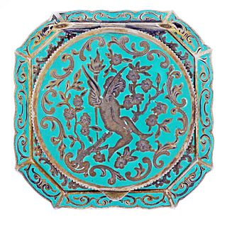 Austrian Silver and Enameled Compact