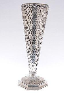 Pierced Sterling Vase