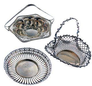 Three Sterling Baskets