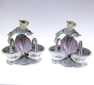 Pair of Meissen-Style Master Salts