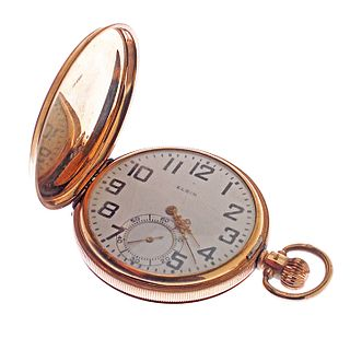 Elgin 10k Gold Hunting Case Pocket watch