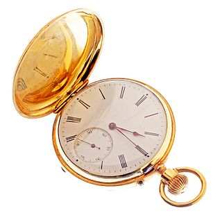 18k Gold Hunting Watch