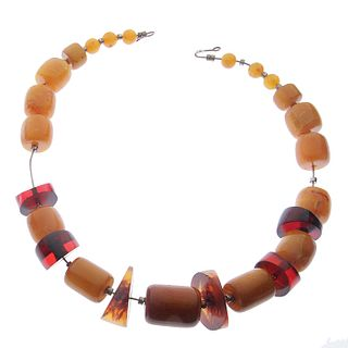 Bakelite and Lucite Choker Necklace