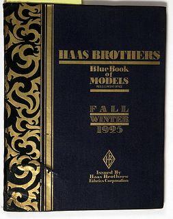 Hans Haas Brothers Blue Book of Models 1925