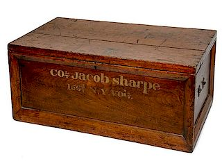 Civil War Campaign Chest Identified to Colonel Jacob Sharpe