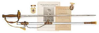 43rd New York Veteran William Blasie, Albany Burgesses Corps Presentation Sword with Related Ephemera