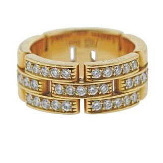 Cartier Maillon Panthere 18 Gold Diamond Band Ring