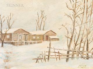 Dwight David (General) Eisenhower (American, 1890-1969) Camp David in Snow
