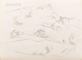 Marsden Hartley (American, 1877-1943) Mont Sainte-Victoire
