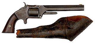 "Smith & Wesson Model 2 ""Old Model"" Revolver Inscribed to Lt. Col. Clancey, 52nd Ohio Infantry with Original Holster"