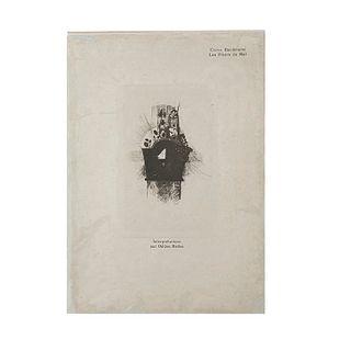 Baudelaire, Charles - Redon, Odilon. Les Fleurs du Mal. Bruxelles: Edmond Derman, 1890. 9 heliograbados. Ed. de 100 ejemplares. 2da. ed