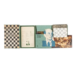 Rojo, Vicente - Paz, Octavio - Duchamp, Marcel. Libro Maleta. México: Ediciones Era, 1968. 1a edición. Edición de 3,000 ejemplares.