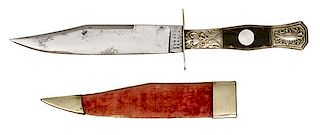 English Bowie Knife by Barnes