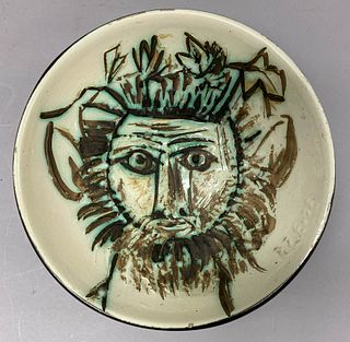 Pablo Picasso Madoura Pottery Bowl Faun's Face