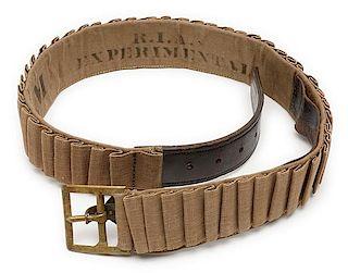 Rare U.S. Experimental Prairie Cartridge Belt