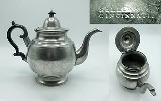Pewter Teapot by Sellew & Co.