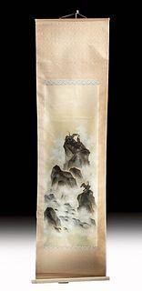 Early 20th C. Japanese Scroll Painting by Hakuyo Kurata