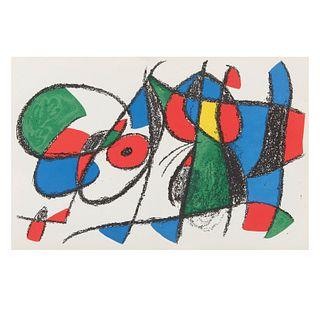 JOAN MIRÓ. Litografía original VIII, de la Suite de 12 litografías originales, 1972. Sin firma. Litografía sin número de tiraje.