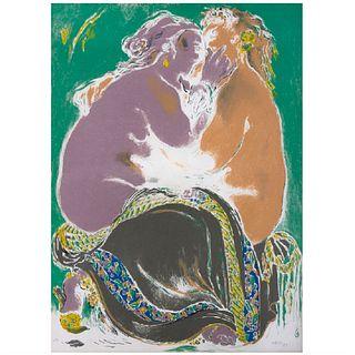 JOSÉ GARCÍA OCEJO. Sin título. Firmada y fechada 98. Litografía P. A. 75 x 54.5 cm