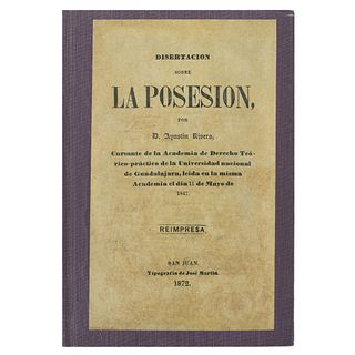 Disertación sobre la Posesión por D. Agustín de Rivera. San Juan: Tipografía de José Martin, 1872. 33 p.  Reimpresa.